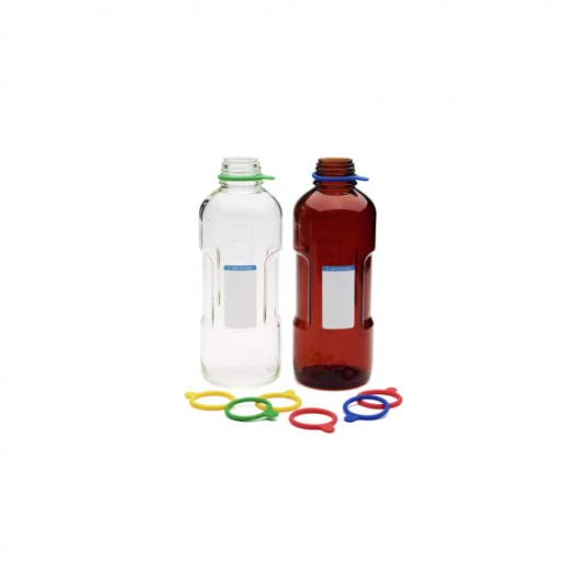 Agilent clear and amber 1L solvent bottles